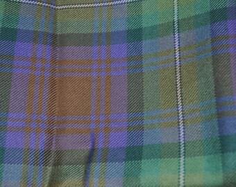 Isle of Skye Tartan Fabric. 100% 10oz Pure New Wool. Price per half metre.