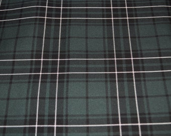Maclean Hunting Modern. Tartan Fabric. Poly viscose. Machine Washable. Price per half metre.