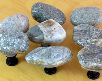 8 Neutral to Light Brown Stone Handles