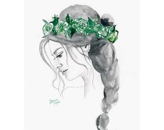 Green Giclee Print