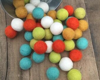 Citrus Wool Felt Balls
