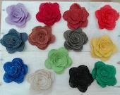 Custom listing for Erin - burlap flowers