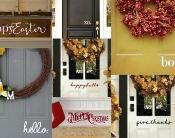 Set of 7  Seasonal Front Door Decals