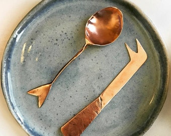 Handmade Copper cheese knife