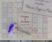 30 Large (2 inch) pieces CUSTOM  Wedding Guest Book Puzzle