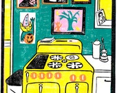 Kitchen Lino Print