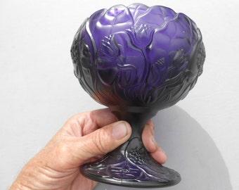 Dark Purple EAPG Candy Dish