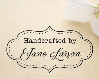 Handmade by stamp,created by stamp,designed by stamp,Handcrafted by stamp,SELF INKING custom stamp,personalized stamp,HS14