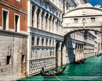 Italy photograph, Venice art, fine art photography, travel photo, bridge of sighs Venezia canals gondolier photo to frame, streets of Venice