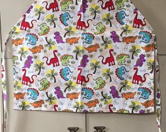 Toddler apron, keep you little boy or girl clean with a ccute dinosaurs or bones apron.  Just right for a little chef .
