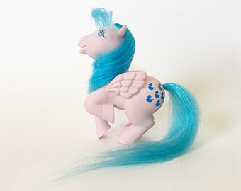 Vintage My Little Pony Sprinkles, G1 Pegasus Pony, Waterfall Playset Pony by Hasbro Toys
