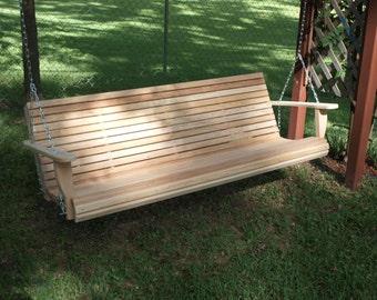 Six Foot Cypress Porch Swing