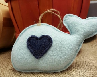 Baby Blue Recycled Wool Whale