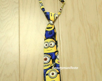 Baby Boy Tie Photo Prop,Minion Tie for Boys