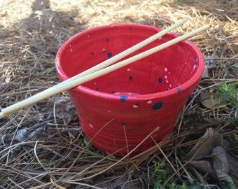 Red Noodle Bowl, Noodle Bowl, Rice Bowl, Chopstick Bowl, Dishwasher Safe