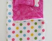 American Girl Doll Clothes; Doll Sleeping Bag; Doll Pillow; American Girl Doll Sleeping Bag; Zippered Doll Sleeping Bag