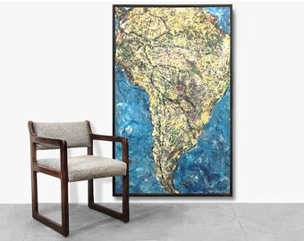 """South America """"Drip"""" Painting by Pasquale, 2002"""