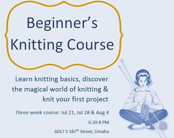 Intro Knitting Course