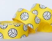 "10Yd Volleyball 7/8"" Yellow Grosgrain Ribbon"