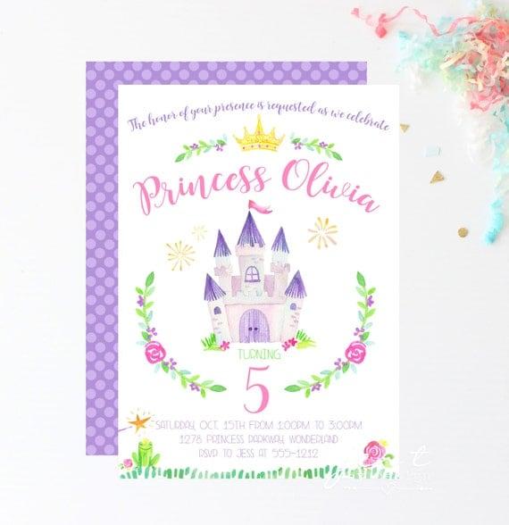 Princess invitation princess party princess birthday birthday il570xn filmwisefo