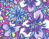 Lilly Pulitzer fabric Tropical Pink Catwalkin  Great new print for 2015!  9 X 18 or   18 X 18 inches