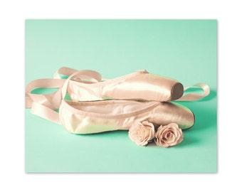 SALE Ballet nursery art, ballet nursery decor, ballet art, ballet wall art, ballet decor, coral mint, nursery prints, girl room decor, art