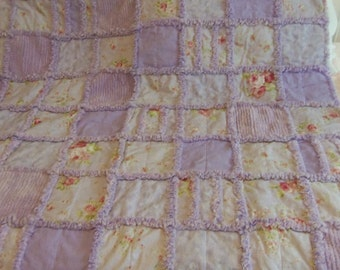Lap Quilt, Shabby Chic, Beach Cottage, Country Chic