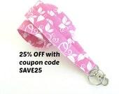 Pink Fabric Lanyard ID Badge Holder, Name Tag Lanyard Keys Lanyard Women's Accessories