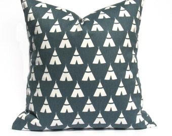 Pillow - Decorative Pillows - Throw Pillow Covers - Gray Pillow - Teepee - Throw Pillows - Accent Pillow - Kids bedding - Pillow cover