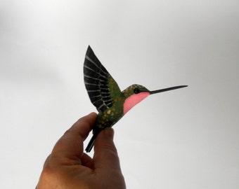 hummingbird art bird sculpture paper machè bird decoration
