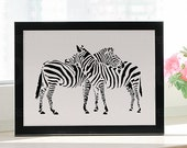 Zebra Art, First Anniversary Gift for Couples, One Year Anniversary Gifts for Wife, First Anniversary Gift Ideas for Couple, Paper cut art