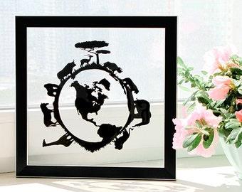 Wild Nature - Handmade Original Papercut Gift - UNFRAMED