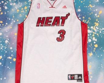 Miami HEAT #3 Wade Basketball Jersey Size  XL