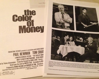 Mini movie press kit for The Color of Money, 1986.