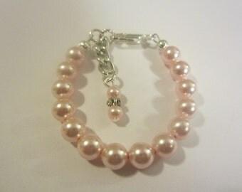 Roseline swarovski newborn baby bracelet