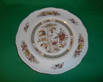"One (1),  Adams China, 10 7/8"" Dinner Plate, in the Jeddo Pattern."
