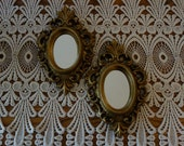 Vintage Mirrors, Mid Century, Baroque, Gold Tone Finish, Plastic Frame, Small Mirrors, Wall Decor, Mirrors, Home Decor, Hollywood Regency