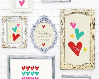 Rainbow of Hearts Collection, Digital Files