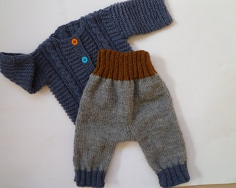 Knit baby pants,newborn gift,baby trousers,knit baby boy pants