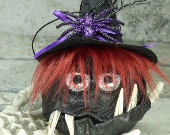 Halloween Tree Goblin Holiday Ornament Decoration Monster Spooky Goth Halloween Decor One Of  A Kind
