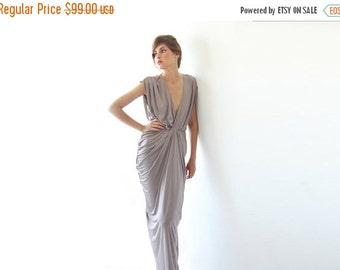 Maxi bridesmaids taupe dress , Bridesmaids short sleeves maxi gown, Taupe maxi dress