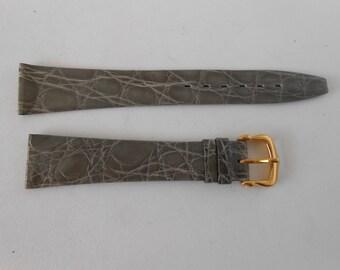 Genuine Caiman Crocodile 11/16 Reg men Wrist watch Band unused Swiss Made