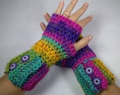PASSION Chunky Crocheted Wrist Warmers - Charisma Yarn ~ Keep Warm in Style this Winter