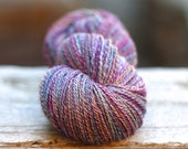 "CUSTOM spin for Tess--Handspun Yarn Heavy Fingering Mixed BFL/Silk ""Lilith"" 356 yds."