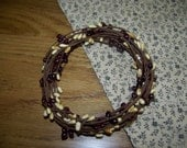 18 Ft. Coil Single Strand Pip Berry Garland In Burgundy And Vanilla
