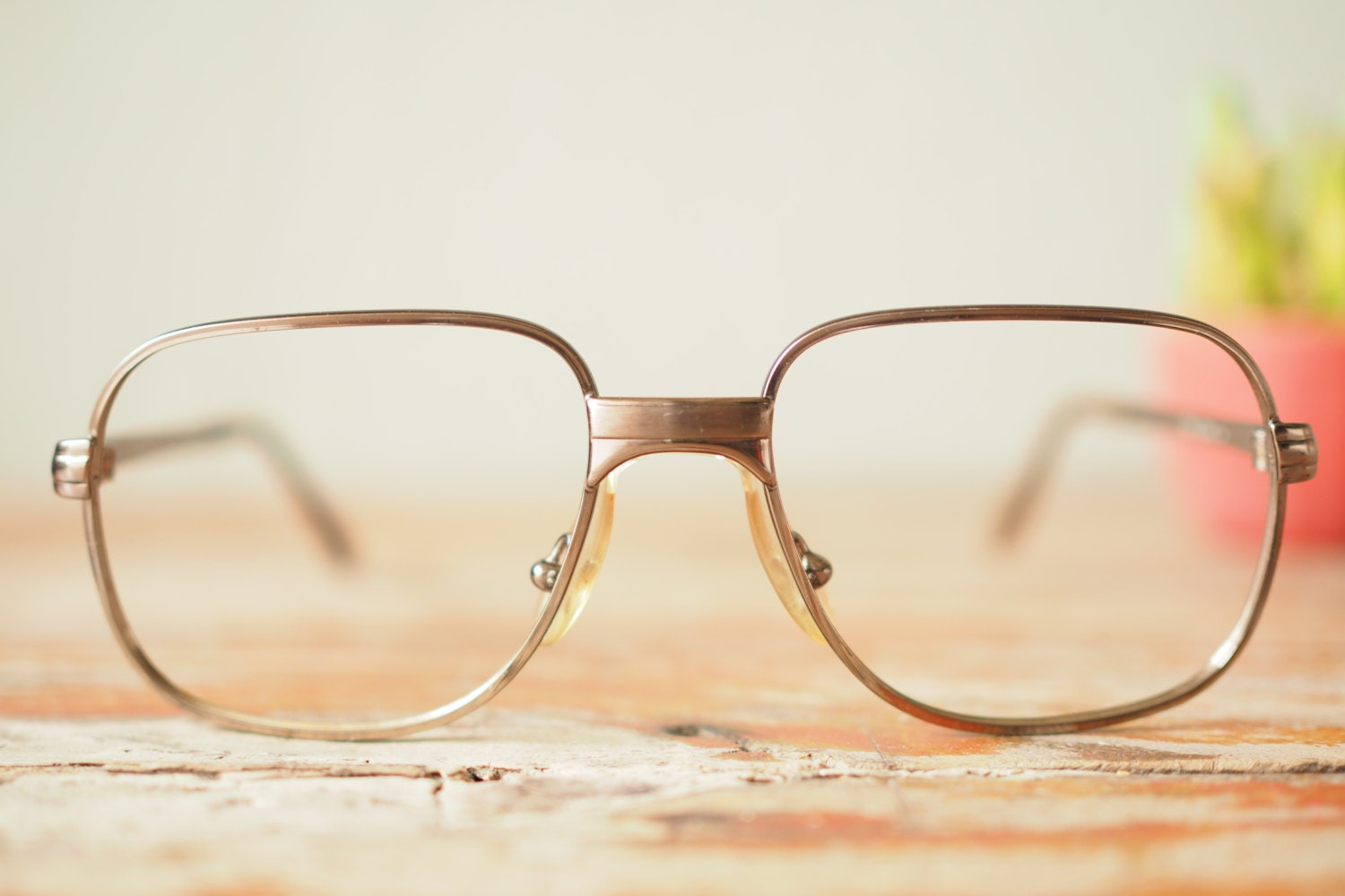 Vintage Aviator Frame Eyeglasses 1980s New Old Stock By