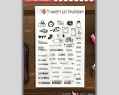 Don't Forget to Workout: Planner Stamp Set