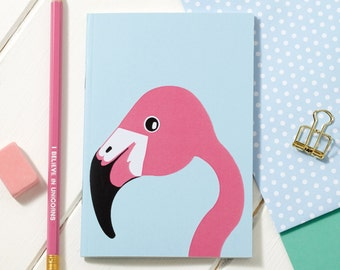 A6 Miss Flamingo Notebook - Notepad - Sketchpad