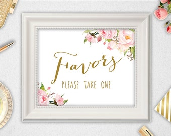 Favors INSTANT DOWNLOAD // 5x7 // 8x10 // Favors Sign  // Wedding // Bridal Shower // Printable