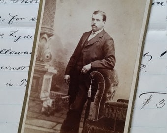 Posh Authentic Victorian Man Cabinet Card Photo